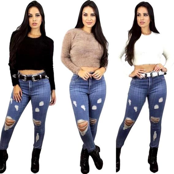 Blusa Top Cropped Pelinho Feminino Moda Pelinho Social Linda