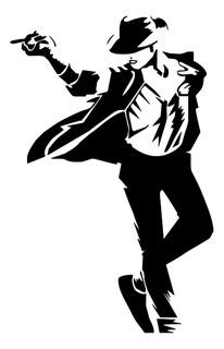 Adesivo De Parede - Michael Jackson 115x74cm