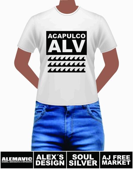 Acapulco Alv Playera Para Caballero Y Dama