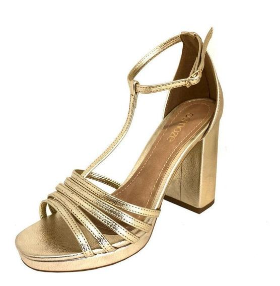 Sandália Osmoze Tiras Dourado