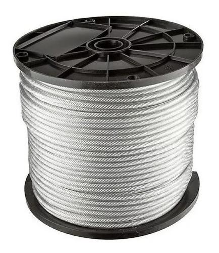 Cable De Acero Galvanizado 3 Mm 6 X19+1 Rollo X 100 Metros
