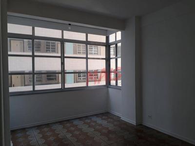 Apartamento Com 1 Dormitório Para Alugar, 58 M² Por R$ 1.500/mês - Pompéia - Santos/sp - Ap5115