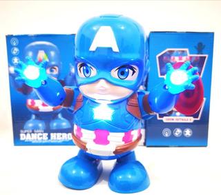 Capitan America Dance Baile Robot Marvel Juguete Avengers