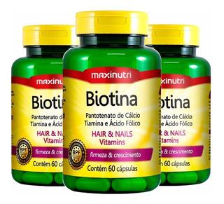 Biotina - 3x 60 Cápsulas - Maxinutri