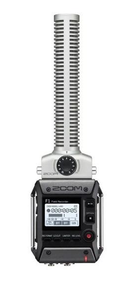 Zoom Gravador Digital F1-sp Microfone Shotgun Frete Grátis- 12x Sem Juros-envio Imediato- Pronta Entrega- Novo