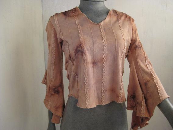 Blusa Vintage Estampada Talla L Marca