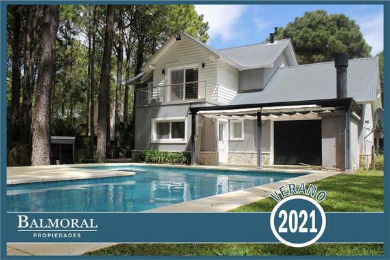 8757 - Casa En Alquiler, Pinamar Norte, Zona Aromos