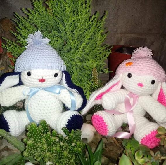 Muñeco Conejo A Crochet