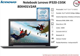Notebook Lenovo Ip320-15isk I3-6006u 4gb Hd 1tb 15,6 W10h