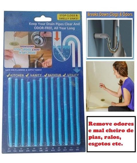 New Sani Sticks Super Desentupidor Pias Ralos Cheiro Limpeza