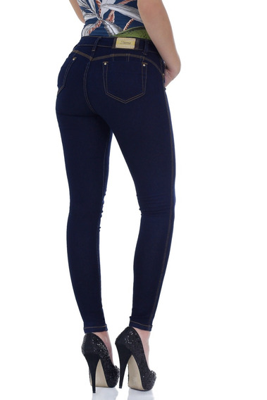 Calça Feminina Com Bojo - Zigma Jeans Hot Pant - Azul