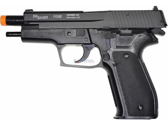 Pistola Airsoft Spring Sig Sauer P226 Slide Metal + Bbs 0.12