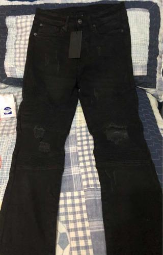 Imagen 1 de 4 de Jeans Stretch Negros Forever 21