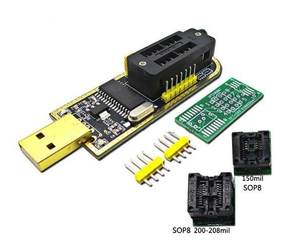 Kit Gravador Usb Flash Eprom Spi Bios 24xx 25xx Programador