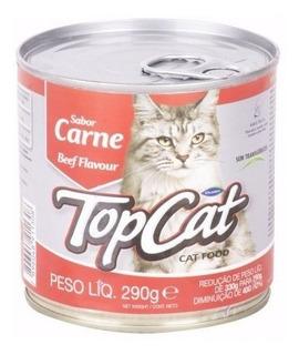 Alimento Lata Carne Top Cat 290gr Ea