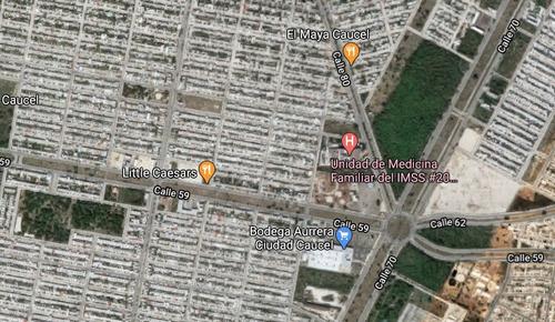 Imagen 1 de 4 de Terreno En Renta Sobre Avenida En Caucel Merida. Cerca De Chedrahui Y Aurrera.