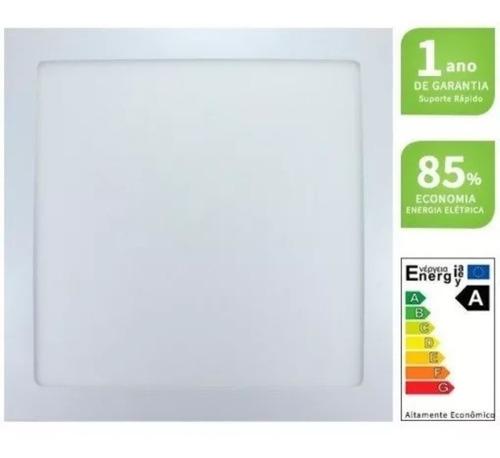Luminária Led 18w Embutir Quadrado 22x22 Forro De Gesso Pvc