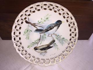 Prato Pássaros - Decoração - Japão - Pintado - Perfeito