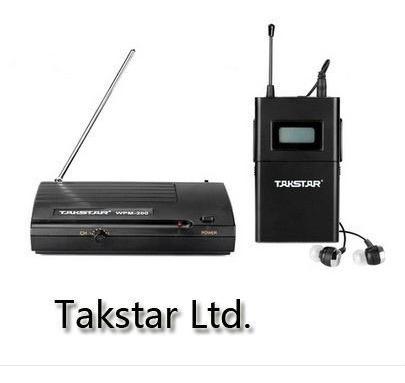 Sistema Sem Fio Monitor De Palco Completo Takstar Wpm 200