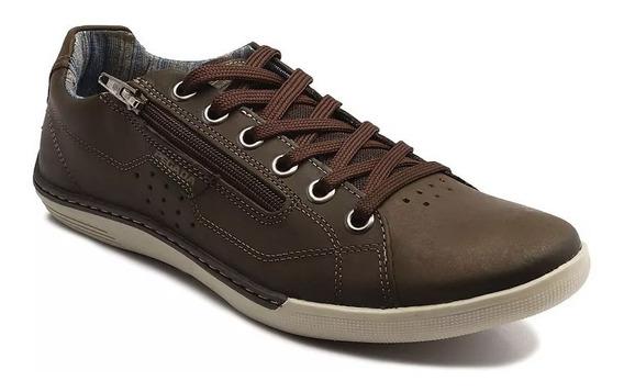 Sapatênis Pegada Sapato Masculino 114062-04 Cravo 14062