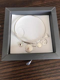 Bracelete Prata 925 N.s Senhora Espírito Santo Pai Nosso