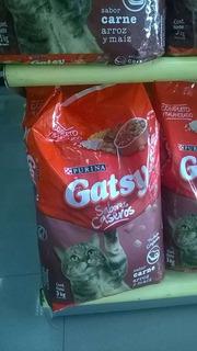 Alimentos Para Gatos Gatsy.presentacion De 3 Kg Y Bulto .