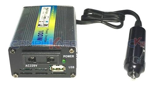 Adaptador Inversor De Corriente P/ Auto 12v A 220v 100w Usb