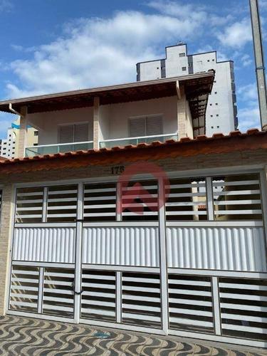 Imagem 1 de 20 de Casa Com 3 Dormitórios À Venda, 109 M² Por R$ 440.000,00 - Caiçara - Praia Grande/sp - Ca0228