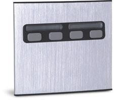 Unidade Externa De Porteiro Eletrônico Duplo 4 Botões Unico