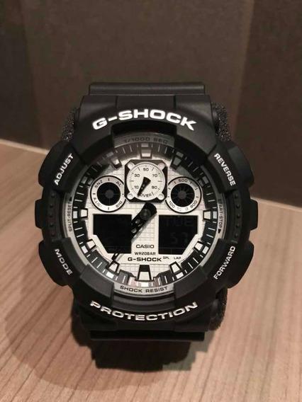 Relógio Casio G-shock Ga 100 Bw 1a Original Envio Imediato