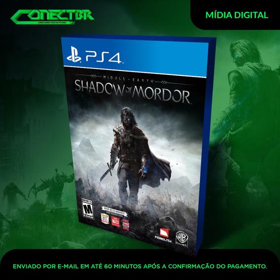 Terra Média Sombras De Mordor Ps4 Digital Envio Imediato