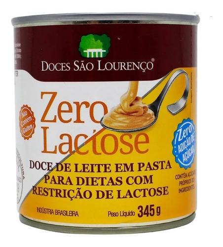 Imagem 1 de 1 de Doce De Leite Zero Lactose Zero Açúcar São Lourenço 330g
