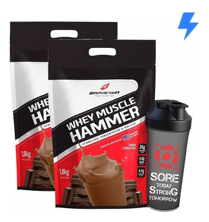2x Muscle Hammer Whey Isolado + Hidrolisado 3.6kg - Body Action