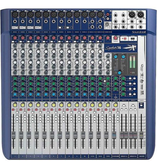 Mesa De Som Soundcraft Signature 16 Garantia 1 Ano E Nf-e