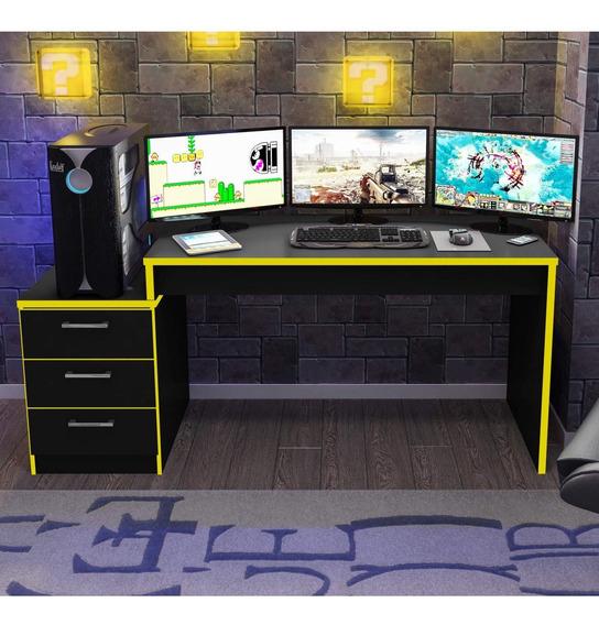 Mesa Para Computador Desk Gamer Drx 6000 Siena Móveis Cf