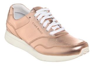 Tenis Cole Haan Piel Rose Gold Dorado Comodo Comfort Zara