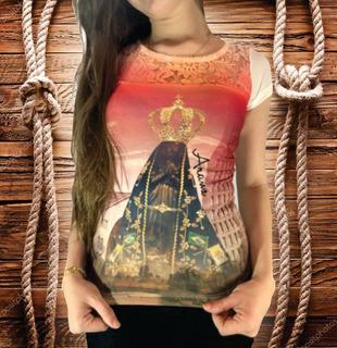 Camiseta Feminina Arame Original Nossa Senhora