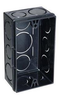Caixa De Luz Tigre 4x2 Retangular Preta Caixa Com 24 Un