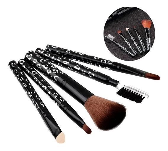 Set De Maquillaje Brochas Cepillos 5 Piezas
