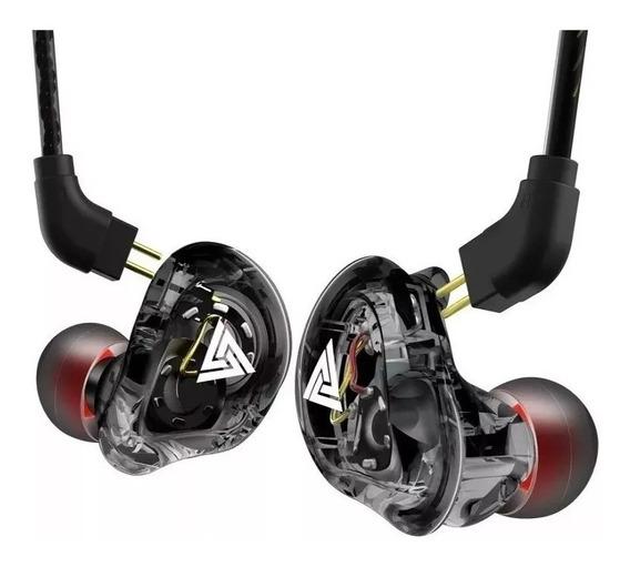 Fone Qkz Vk1 In Dual Driver Retorno De Palco 4d Ear-buds