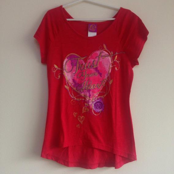 Camisa Niña Blusa Roja Corazon Talla 10 Estado 10/10