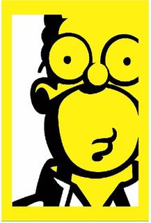 Cuadro Homero Simpson Caricatura 40x60 Vinil Mdf Decorativo