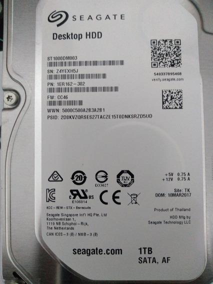 Hd Seagate Sata Desktop 1tb 7200rpm 64mb St1000dm010