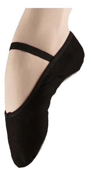 Zapatillas Lona Media Punta Ballet Danza Negro Rosado Blanco