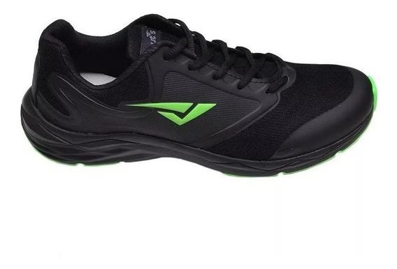 Tênis Masculino Bouts Volt Preto Verde Fluor Esportivo