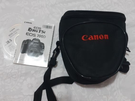 Câmera Canon Rebel T5i Eos 700d Com Lente 18-135 Mm