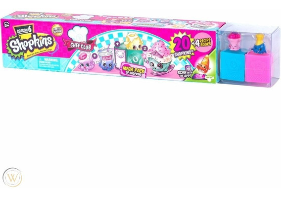 Shopkins Temporada 6 Chef Club Mega Pack 20 Pz Moose