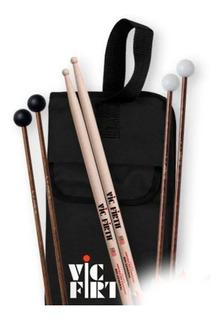 Set Con Funda Palillos Vic Firth Pack Ep-1 Educational Cuota