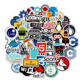 Stickers Calcomanias Programador Pack 50 Unidades, Geek
