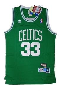 Camisa Boston Celtics Larry Bird Verde Ou Branca